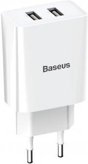 СЗУ Baseus Speed Mini Dual U Charger 10.5W 2USB CCFS-R02 White (165725)