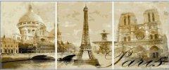 Картина модульная по номерам Babylon Париж 50*90 см 3 модуля (в коробке) арт.MS14029