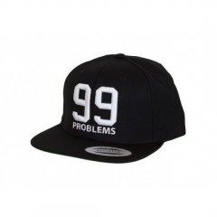 Кепка Snapback Yupoong черная с 3Д вышивкой 99 problems One Size
