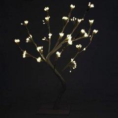 Новогодняя светодиодная декорация Devilon Дерево 45х48х50 см Белая (141226)