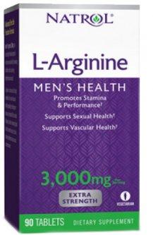 Аминокислота Natrol Arginine 3000 90 таблеток (047469052348)