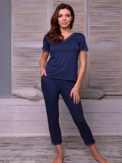 Пижама ROKSANA 818 3XL Темно-синяя (4828186002307)