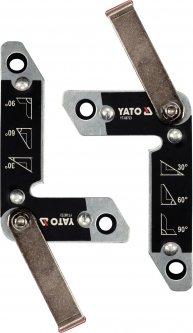 Магнитные уголки для сварки YATO 110 x 65 x 35 x 70 мм Ø8 мм 32 кг 2 шт (YT-08723)