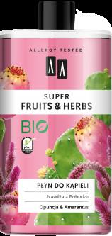 Пена для ванны AA Super Fruits And Herbs опунция и амарант 750 мл (5900116064949)