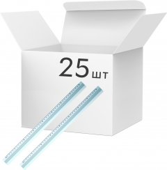 Набор линеек KLERK алюминиевых 40 см Серебристих 25 шт (Я45150_KL1540_25)