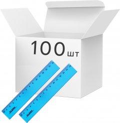 Набор линеек KLERK пластиковых 15 см Голубых 100 шт (Я45151_KL0515_100)
