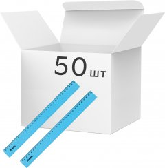Набор линеек KLERK пластиковых 30 см Голубых 50 шт (Я45152_KL0530_50)