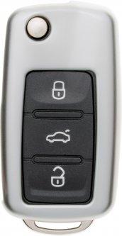 Чехол для автоключа LaManche Volkswagen Silver (VW-A01K_slv)