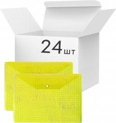 Набор папок-конвертов KLERK на кнопке А4 150 мкм 24 шт Желтых (Я45226_209FCC_24_желтый)