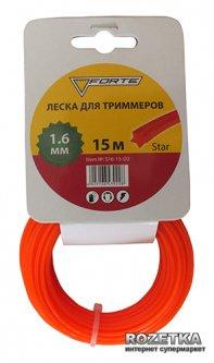 Леска для триммера Forte 1.6 мм 15 м звезда (40088)