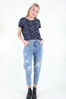 Штани жіночі Wear classic 9102 джинс (Синій XXL)