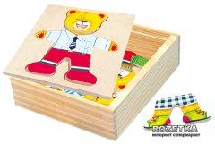 Настольная игра Шкаф для одежды Медвежонок Bino (88047)