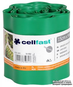 Газонный бордюр Cellfast 15x900 см Зеленый (30-002H)
