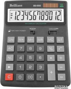 Калькулятор электронный Brilliant 12-разрядный (BS-555B)