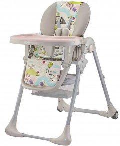 Стульчик для кормления Kinderkraft Tastee Pink Leaf (5902533916054)