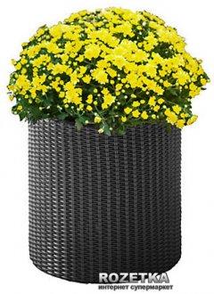 Горшок для цветов Keter Cylinder Planter M Серый (7290103668211)