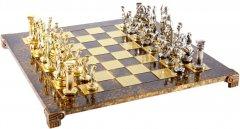 Шахматы Manopoulos Греко-римские, латунь, в деревянном футляре, коричневый, 44 х 44 см, 5.9 кг (S11BRO)
