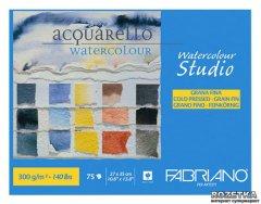 Склейка для акварели Fabriano Watercolour Studio A4 27 х 35 см 300 г/м² 75 листов (8001348163046)