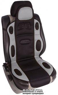 Накидка на сиденье с подогревом Vitol H 19002 GY/BK 1 шт Черно-серая