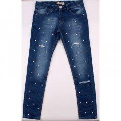 Штани джинсові для дівчинки BREEZE 20126 134 см синій (409242)