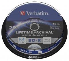 Verbatim M-Disc BD-R 25 GB 4x Cake 10 шт Printable (43825)