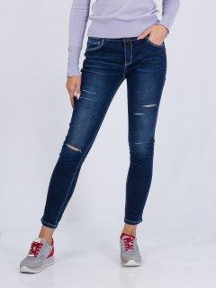 Завужені джинси з декоративними розрізами Vero Moda 317149507 L (83476L) Синій