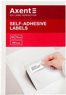 Набор этикеток самоклеящихся Axent 100 листов А4 70х29.7 мм Белые (2476-А)
