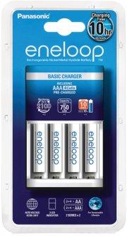 Зарядное устройство для аккумуляторов АА/ААА Panasonic Basic Charger + 4 AAA 750 мА*ч New (K-KJ51MCC04E)