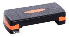 Степ-платформа LiveUp Power Step 68x28x10 см Black-Orange (LS3168A)