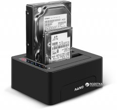 "Док-станция Maiwo для двух SSD/HDD 2.5/3.5"" SATA-USB 3.0 (K3082)"