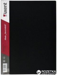 Папка пластиковая Axent А4 30 файлов Черная (1030-01-А)