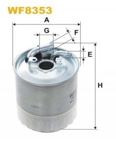 Фильтр топливный WIX WF8353 - FN PP841/7