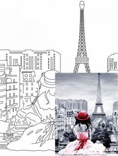 """Холст Rosa Start Город """"Париж 2"""" на картоне 30 х 40 см (4823086705098)"""
