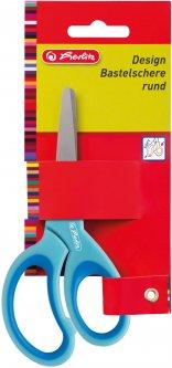 Ножницы детские Herlitz 13 см с резиновыми вставками Голубые (10801710B)
