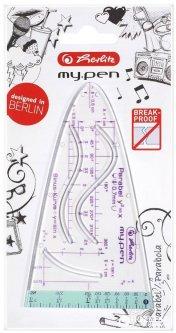 Линейка тригонометрическая Herlitz My Pen Girl небьющийся пластик Голубая (11368214G)