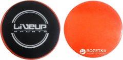 Диски LiveUp Sliding Disc для скольжения 17 cм Black-Orange (LS3360)