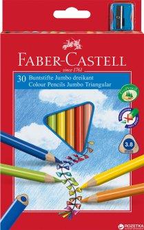 Набор цветных карандашей Faber-Castell Jumbo 30 шт (8991761345030)