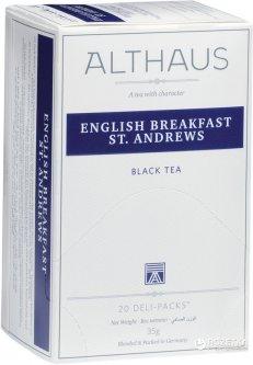 Чай чёрный пакетированный Althaus English Breakfast St. Andrews 20 х 1.75 г (4001258002651_4260312440925)