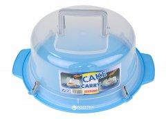 Тортовница Heidrun Cake Carry с крышкой и защелками 35 см Голубой (202_голубой)