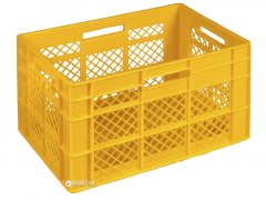 Ящик пластиковый универсальный Полимерцентр 600х400х350 мм Желтый (ST6435-2-YL)