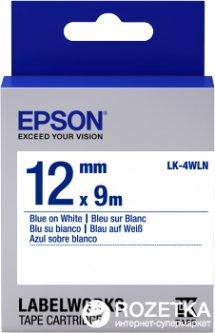 Картридж с лентой Epson LabelWorks LK4WLN Standart 12 мм 9 м Blue/White (C53S654022)