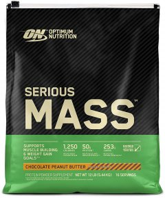 Гейнер Optimum Nutrition Serious Mass 5.45 кг Chocolate-Peanut (748927052572)