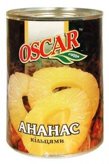 Ананас кольцами в сиропе Oscar 580 мл (4820072980033)