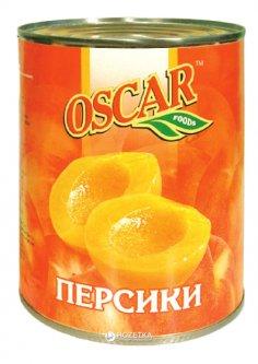 Персики половинками в сиропе Oscar 850 мл (4820072980088)
