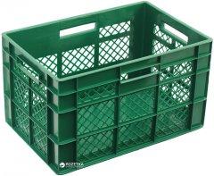 Ящик пластиковый перфорированный Полимерцентр 600х400х350 мм Зеленый (ST6435R-2-GR)