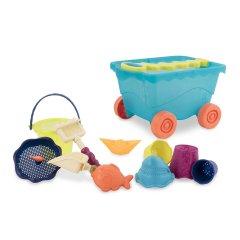 Набор для игры с песком и водой Battat Тележка Море 11 предметов (BX1596Z)