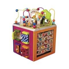 Развивающая деревянная игрушка Battat Зоо-куб (BX1004X)