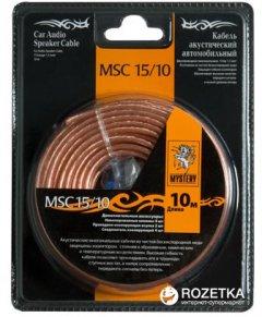 Кабель акустический Mystery MSC-15/10 + клеммы для обжима