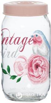 Банка для хранения продуктов Herevin Vintage Birds 1 л (171541-050)