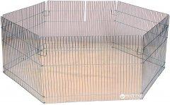 Передвижной вольер для собак Лорі Мини 50 х 140 х 140 см Серебристая (4820033202549)